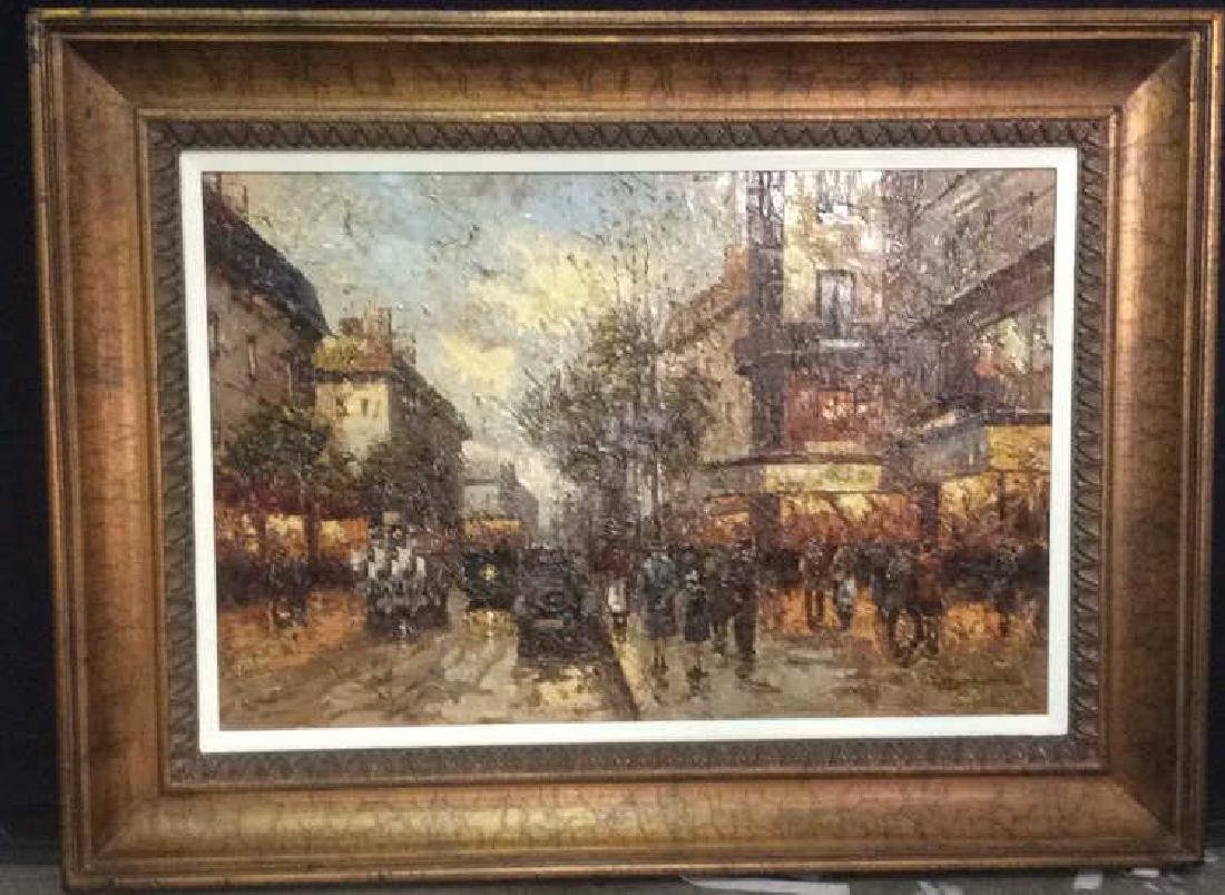 J NEWMAN Framed Textured Painting