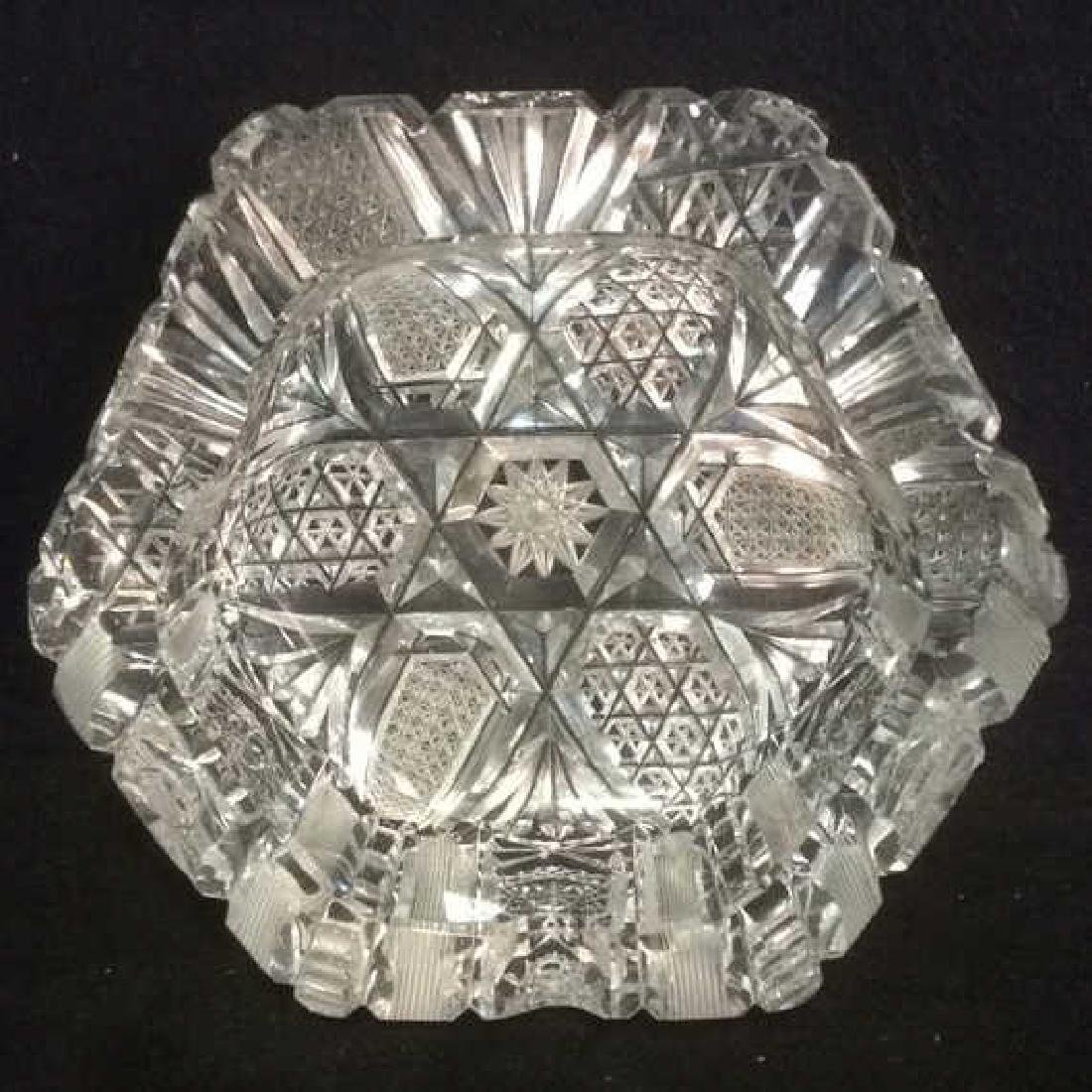 Intricately Cut Crystal Ash Trays