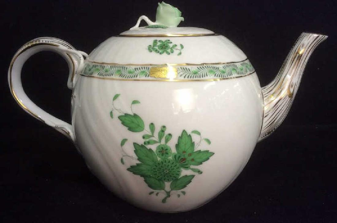 Hand Painted HEREND Porcelain Teapot