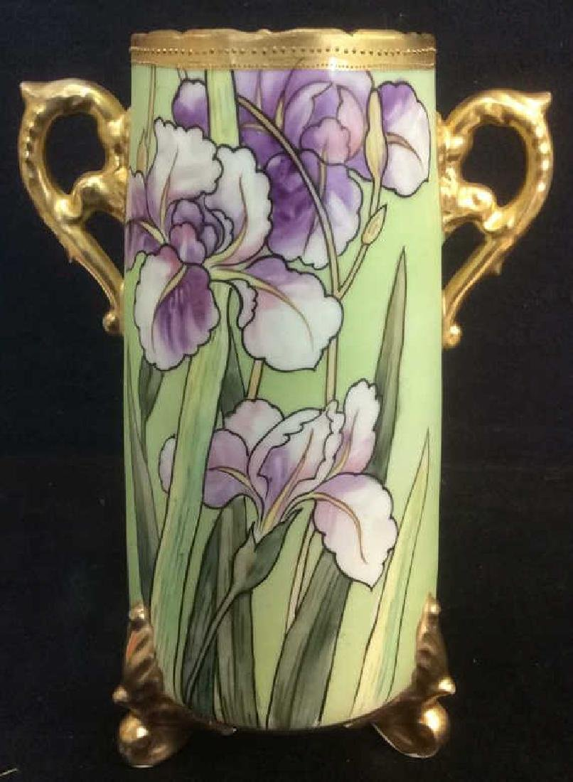 NIPPON Hand Painted Handled Vase