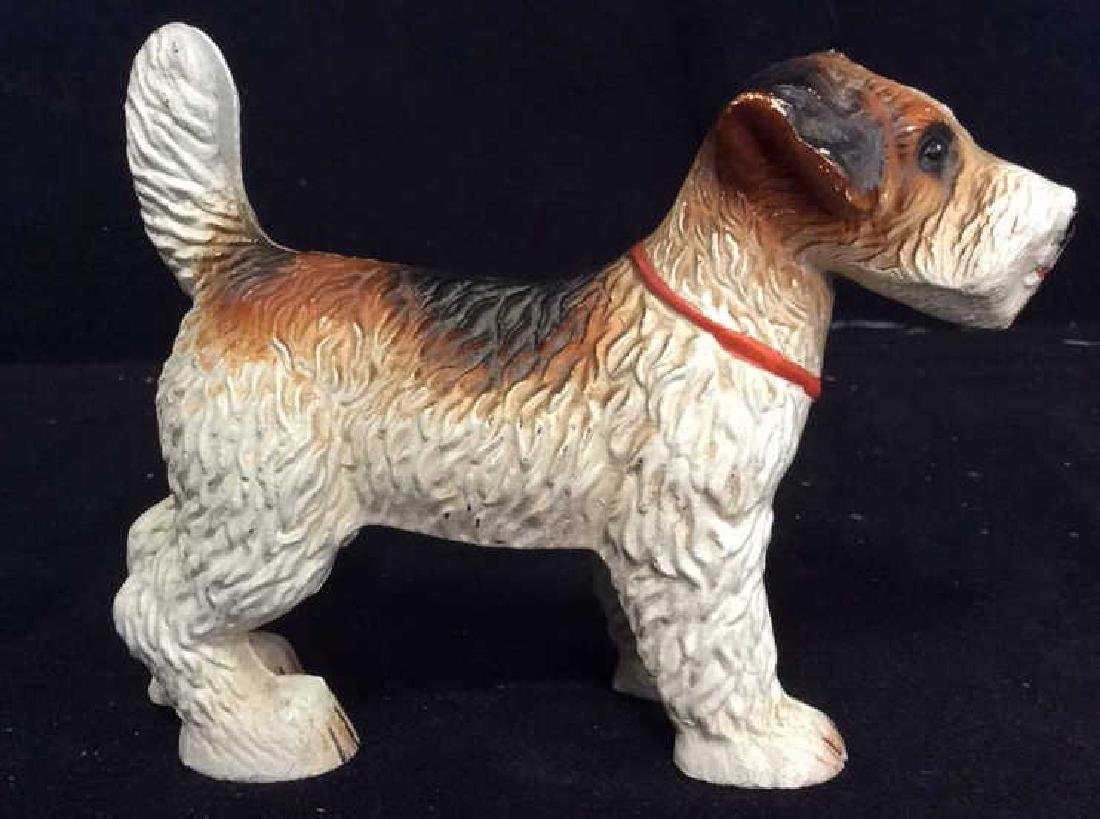VIntage Cast Iron Dog Door Stopper