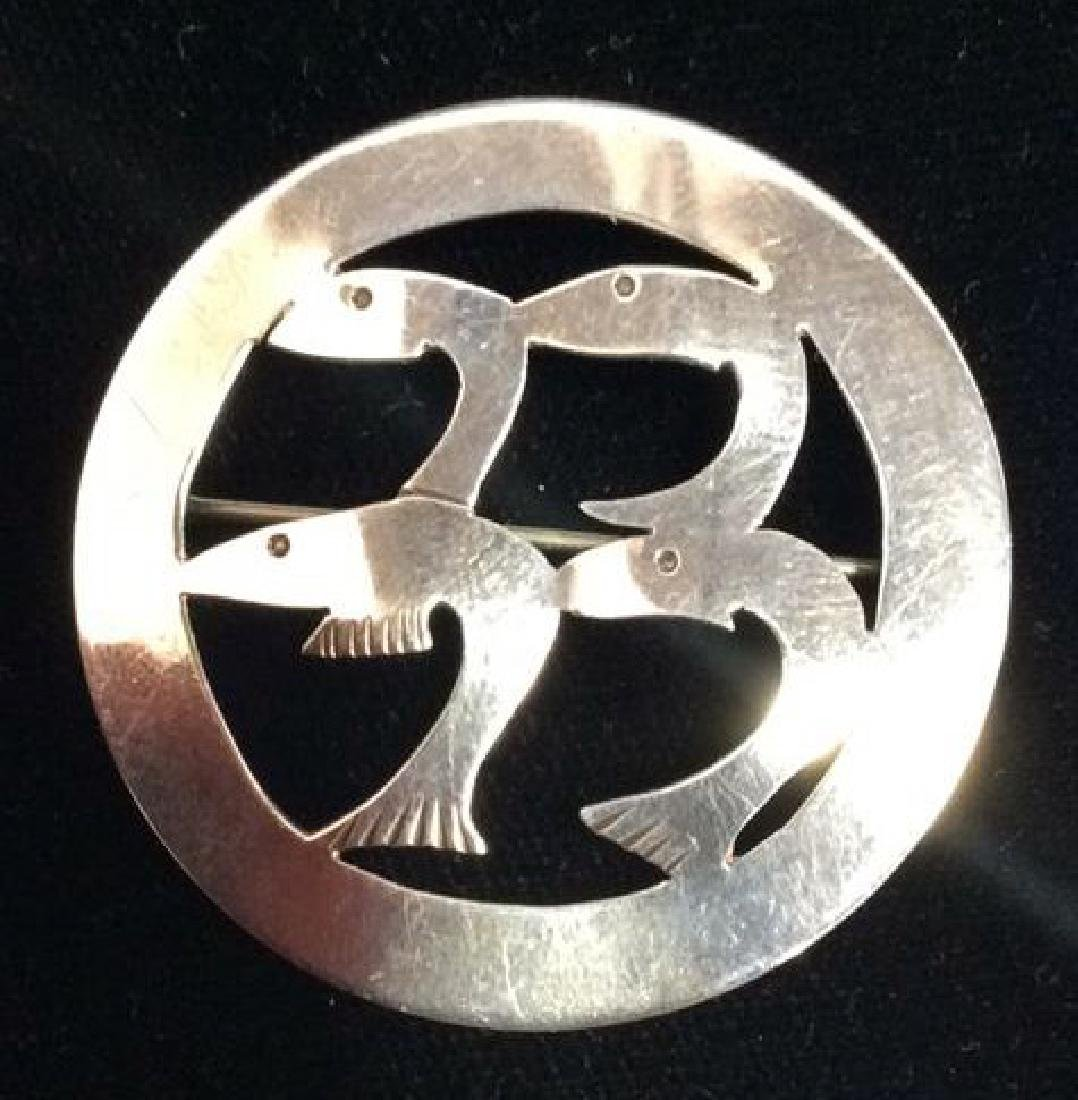 Mid Century Leonore Doskow Sterling Fish Pin