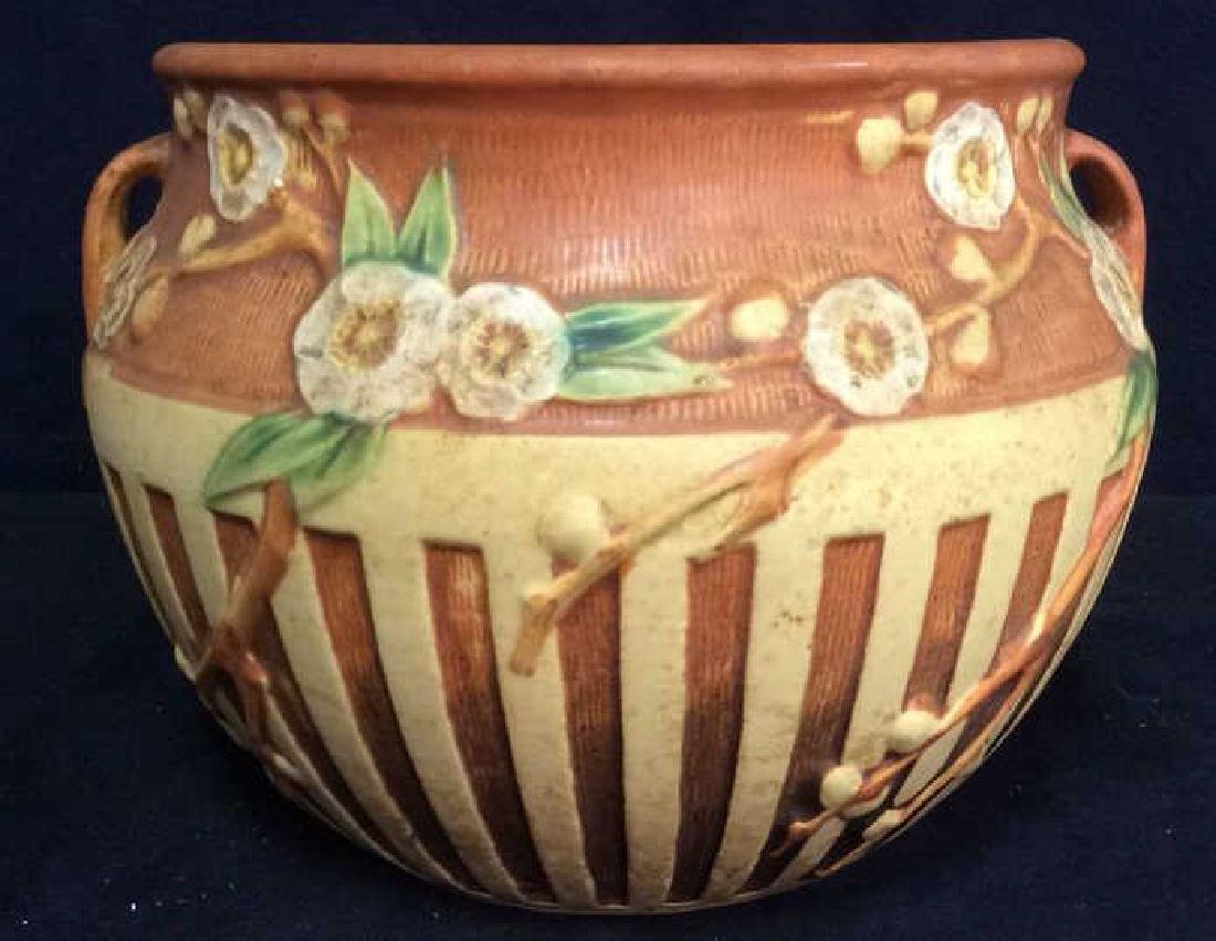 ROSEVILLE Floral Detailed Ceramic Planter