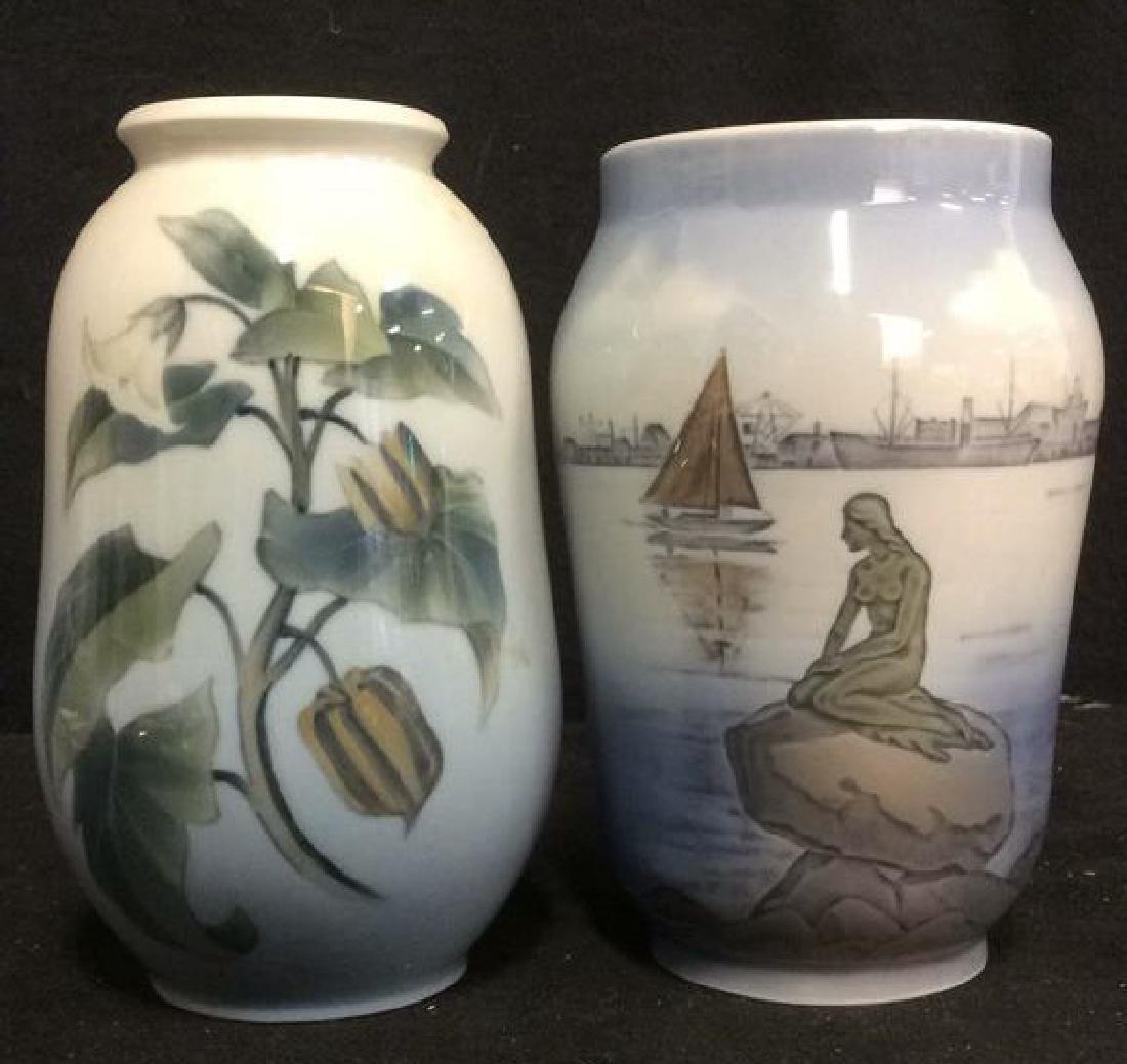 Lot 2 ROYAL COPENHAGEN Porcelain Vases