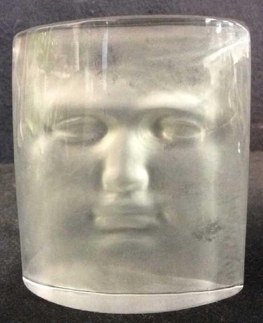 ROY ADZAK Paperweight W Face Relief Detail