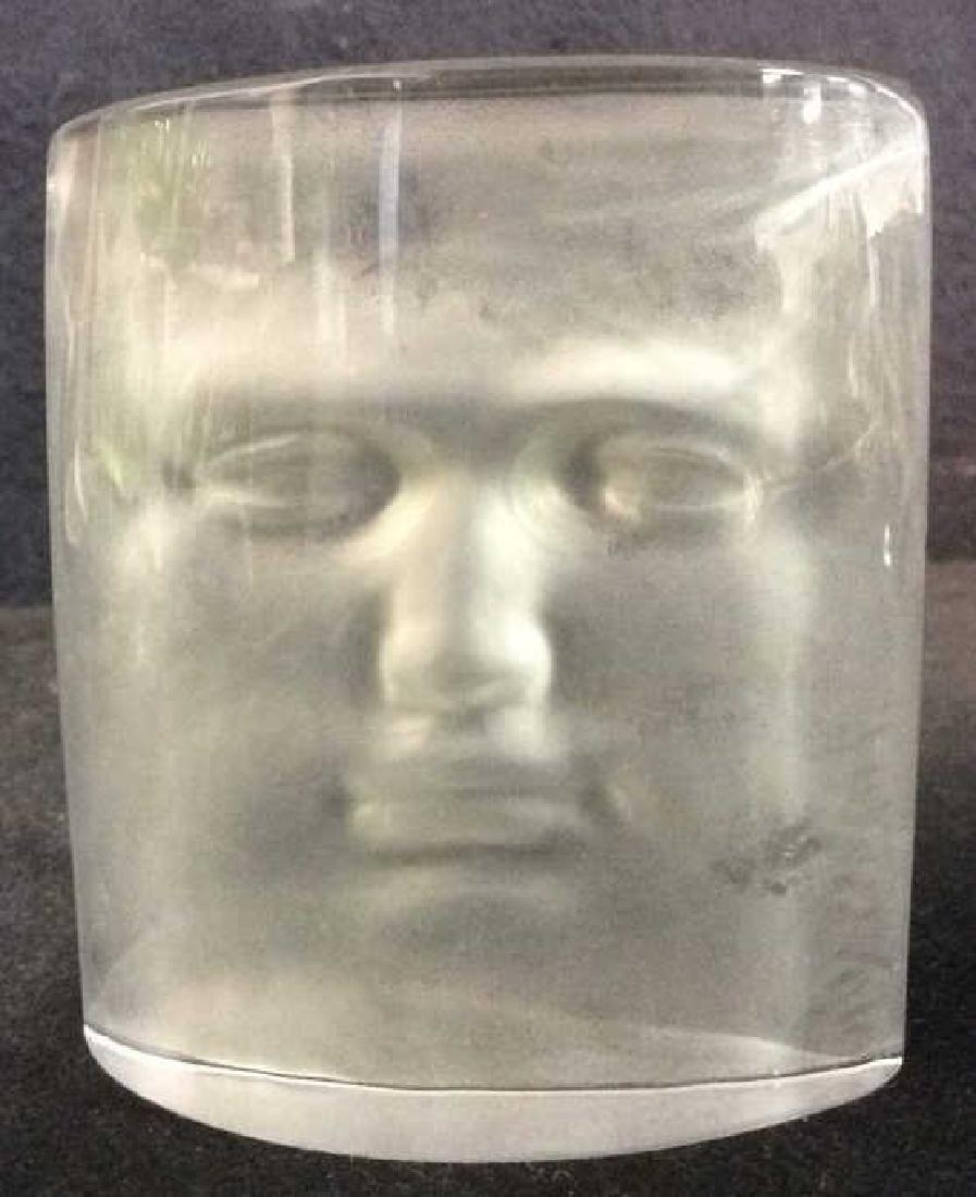 ROY ADZAK Paperweight W Face Relief Detail