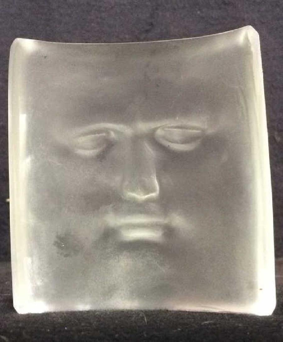 ROY ADZAK Paperweight W Face Relief Detail - 4