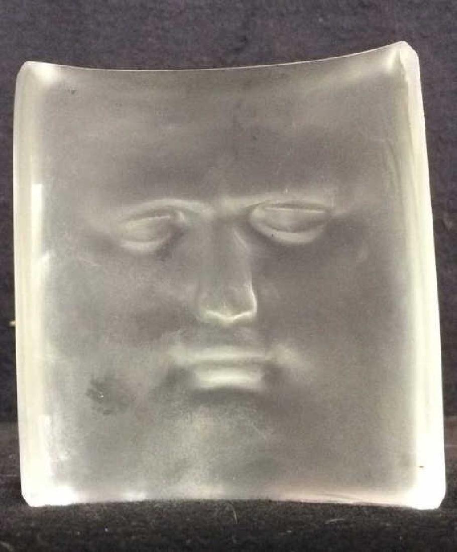 ROY ADZAK Paperweight W Face Relief Detail - 4