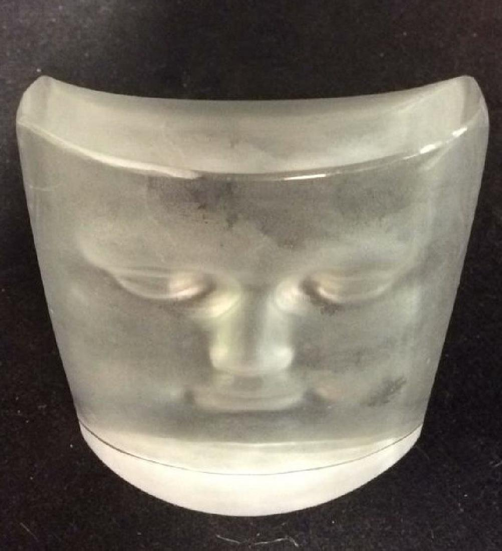 ROY ADZAK Paperweight W Face Relief Detail - 5