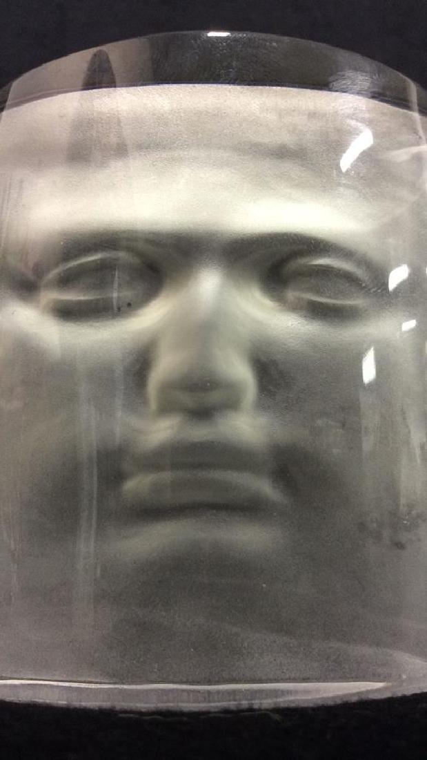 ROY ADZAK Paperweight W Face Relief Detail - 6