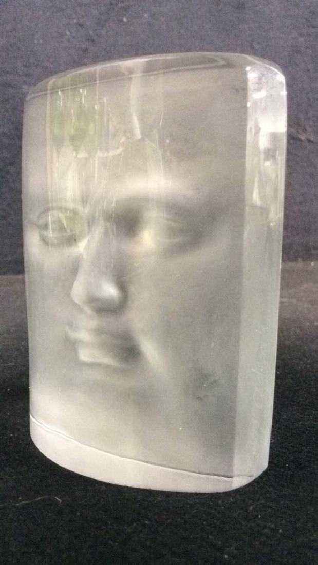 ROY ADZAK Paperweight W Face Relief Detail - 8
