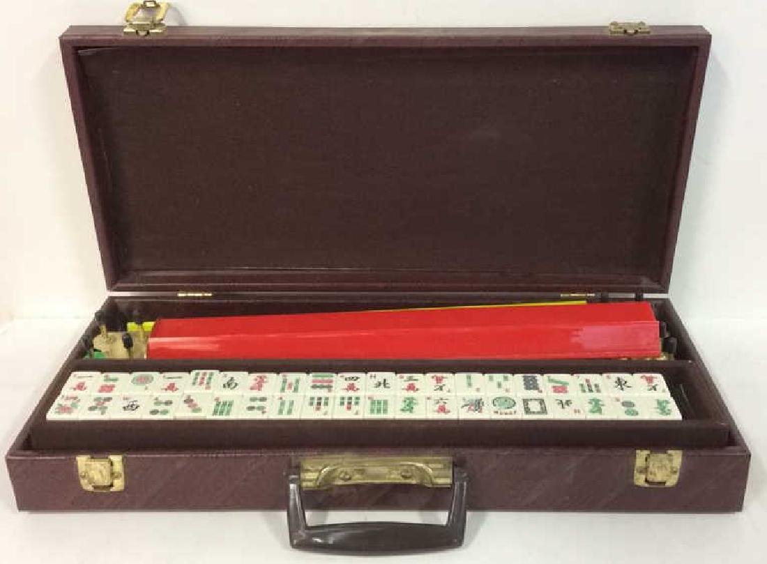 Lot 150 Mahjong Set In Leather Case