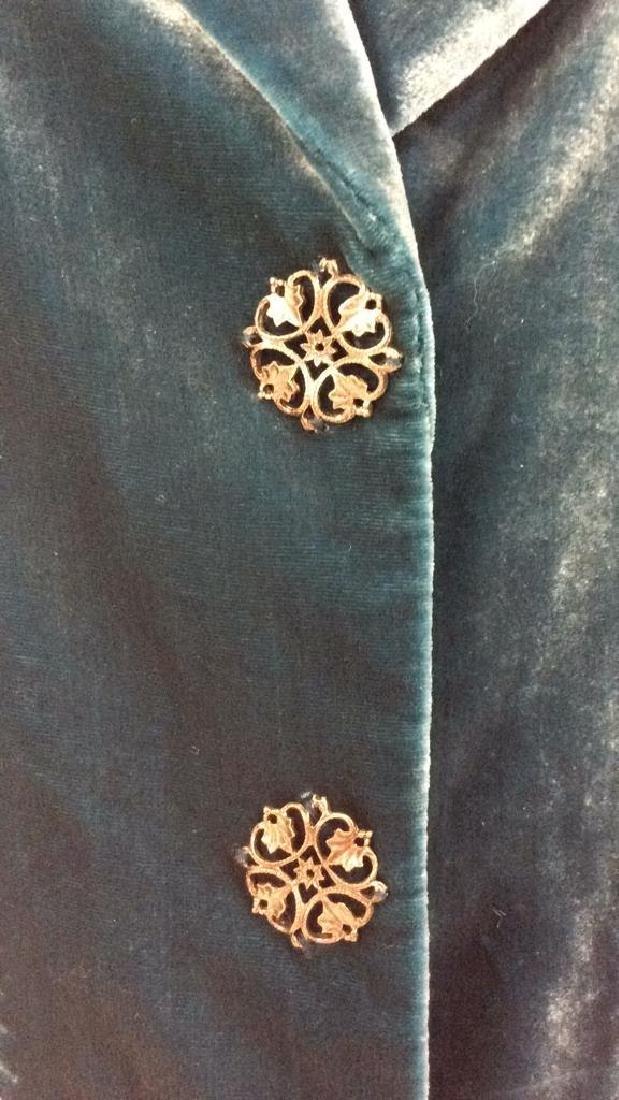 TAHARI Blue Toned Velvet Women's Dress Jacket - 2
