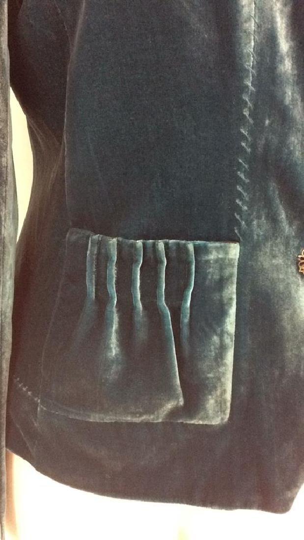TAHARI Blue Toned Velvet Women's Dress Jacket - 3