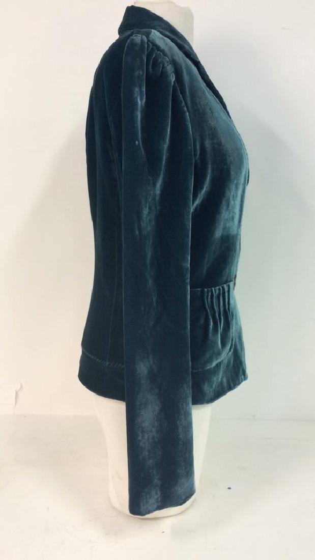 TAHARI Blue Toned Velvet Women's Dress Jacket - 4