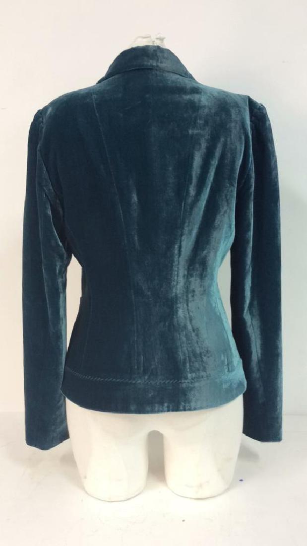 TAHARI Blue Toned Velvet Women's Dress Jacket - 5