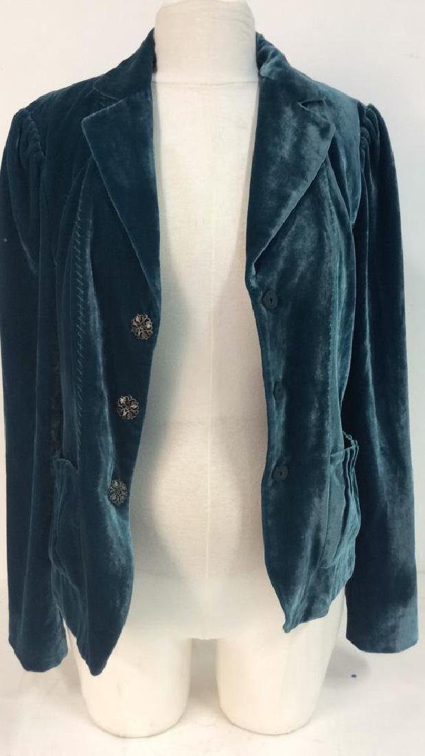 TAHARI Blue Toned Velvet Women's Dress Jacket - 6