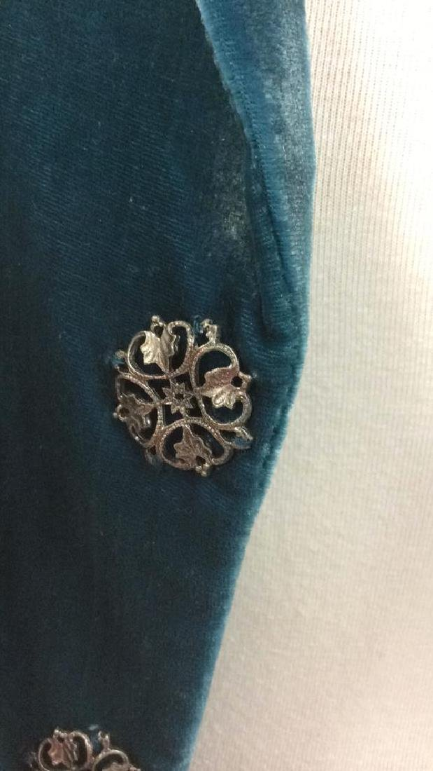 TAHARI Blue Toned Velvet Women's Dress Jacket - 7