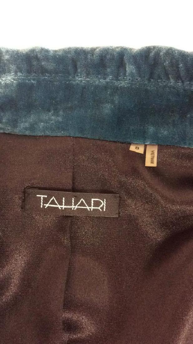 TAHARI Blue Toned Velvet Women's Dress Jacket - 8