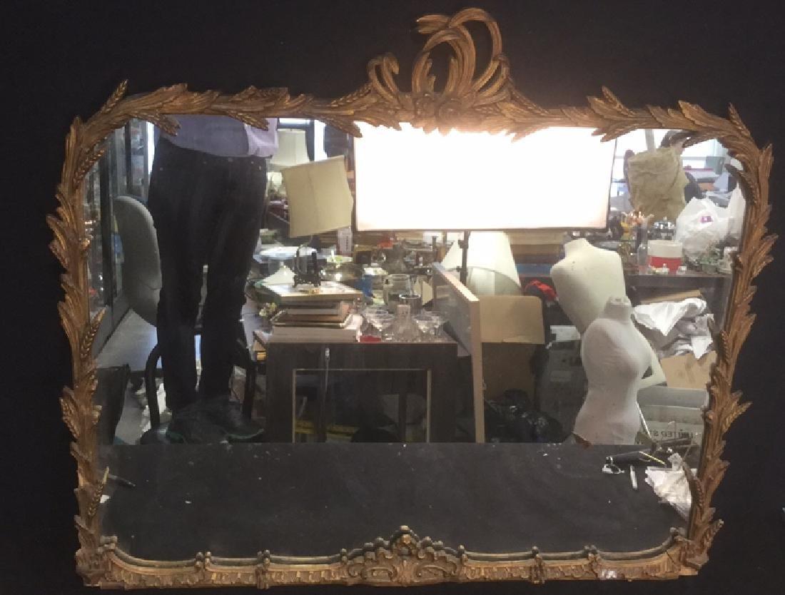 Antique Ornate Carved Gilded  Mantle Mirror