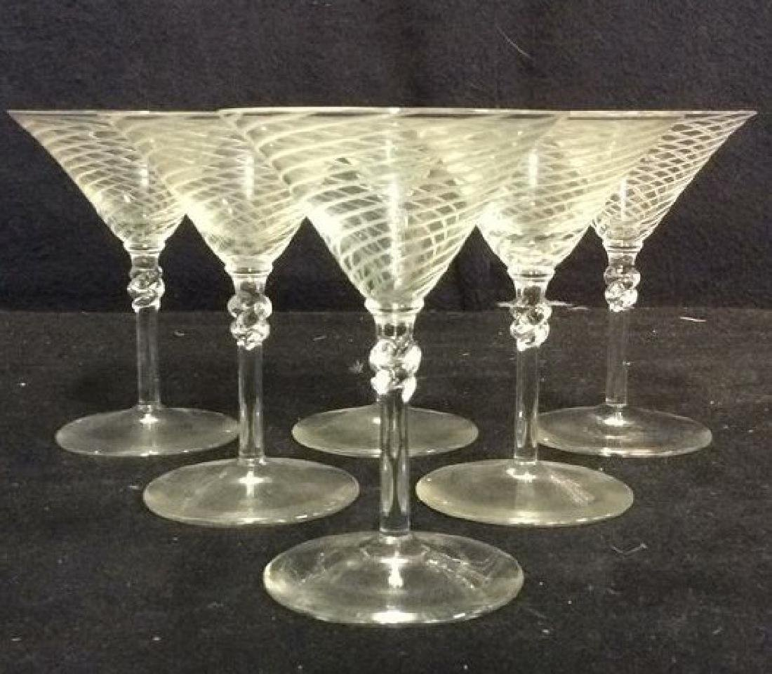 Lot 8 Spiral Detailed Cordial Glasses