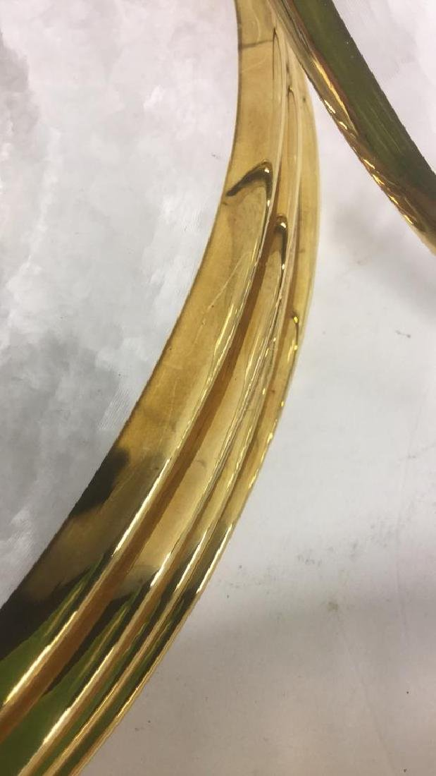 Lot 20 Glass Dinner Plates With Gold Toned Edges - 7