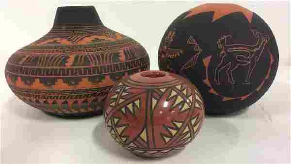 Lot 3 Ceramic Native American Navajo Pottery