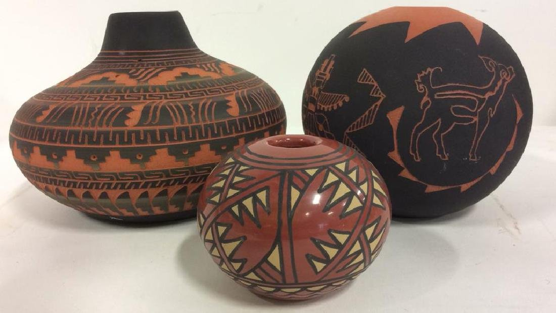 Lot 3 Ceramic Native American Navajo Pottery