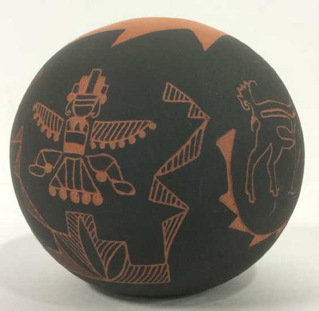 Lot 3 Ceramic Native American Navajo Pottery - 6