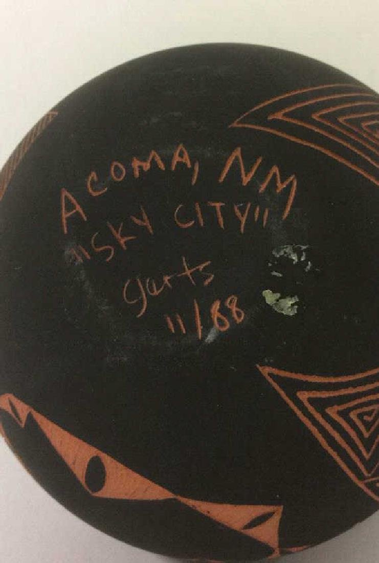 Lot 3 Ceramic Native American Navajo Pottery - 7