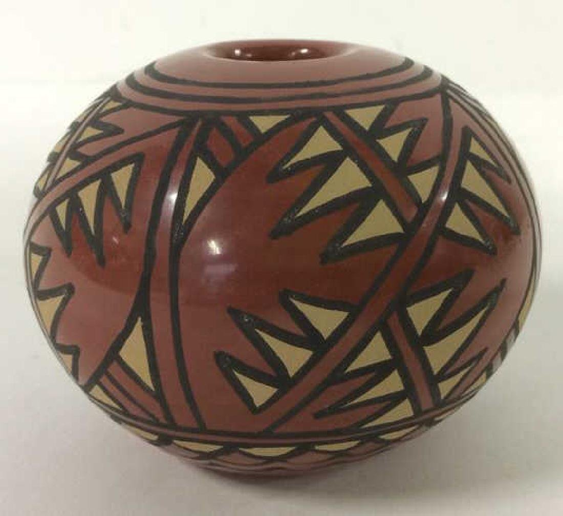 Lot 3 Ceramic Native American Navajo Pottery - 8