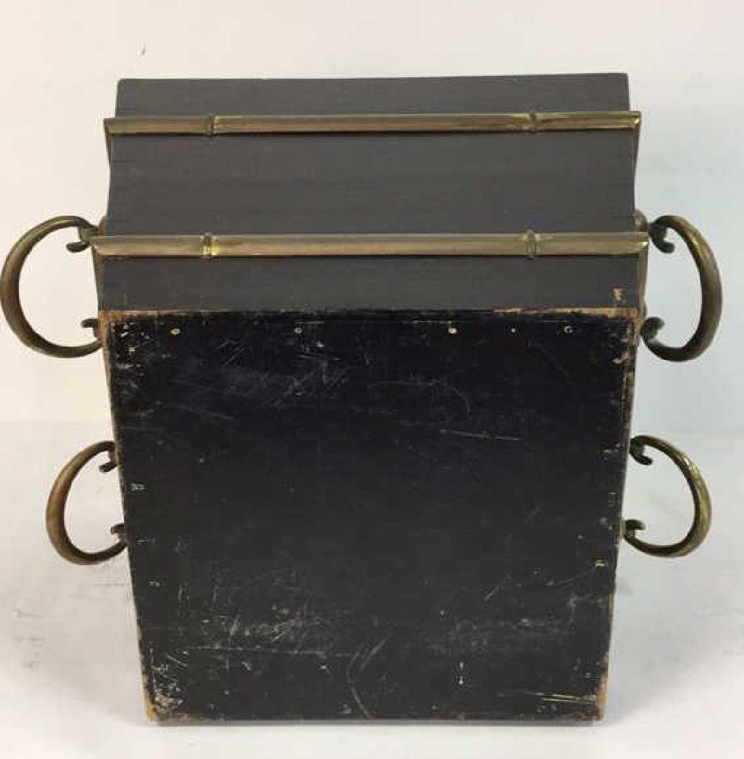 Black And Brass Toned Metal Planter - 6