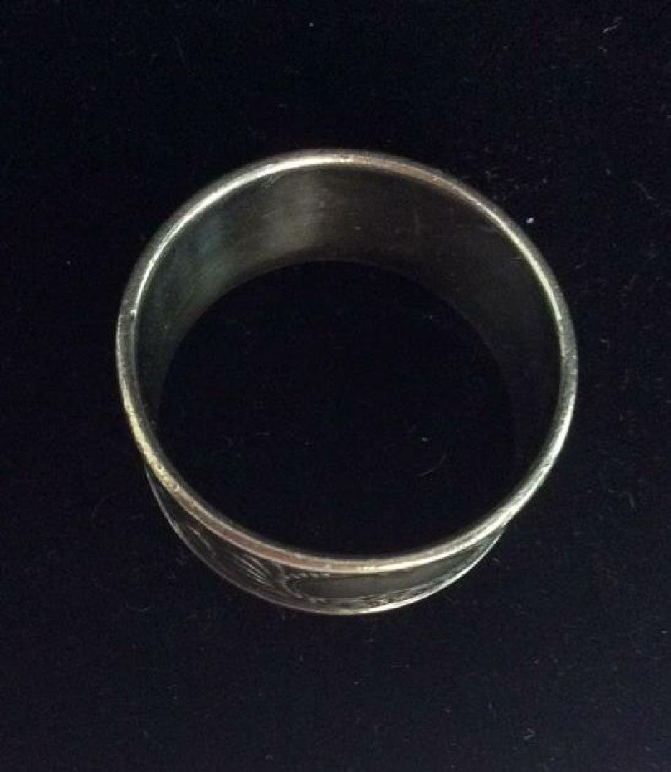 Art Deco Silver Toned Metal Napkin Rings - 7