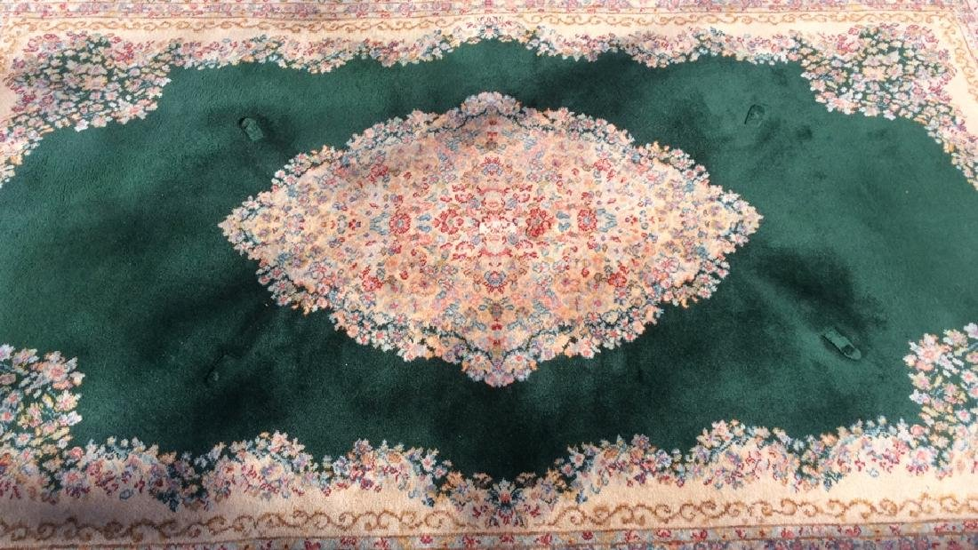 KARASTAN Green Kerman Medallion Wool Rug