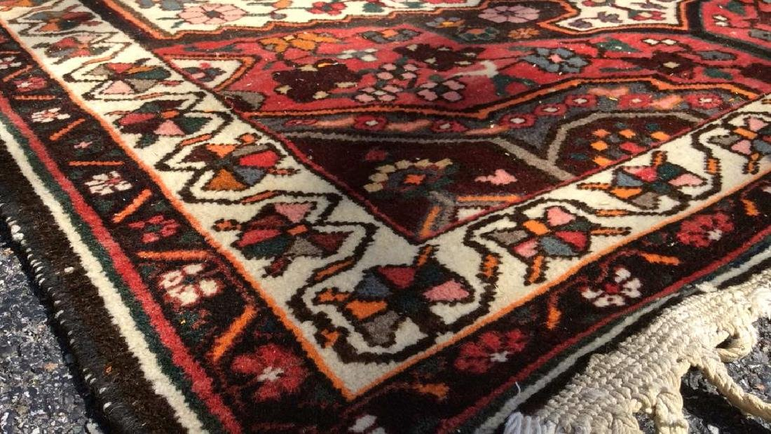 Handmade Antique Floral Detailed Wool Rug - 10
