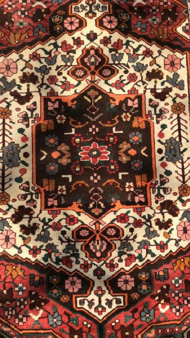 Handmade Antique Floral Detailed Wool Rug