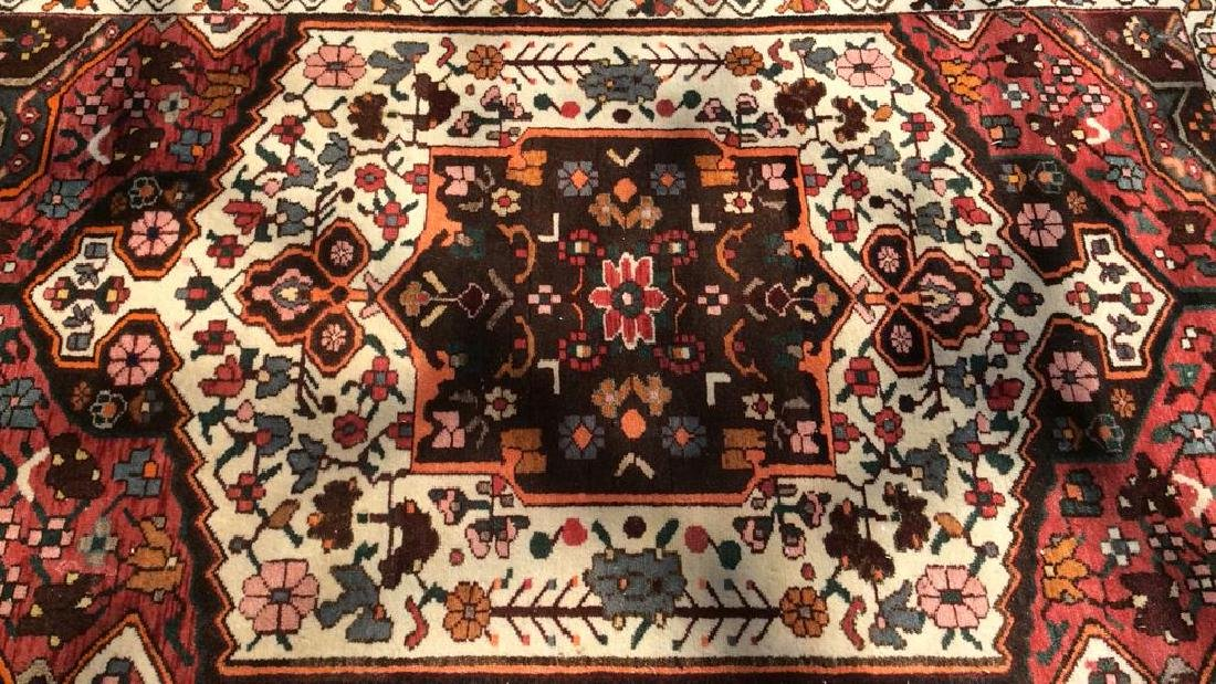 Handmade Antique Floral Detailed Wool Rug - 2