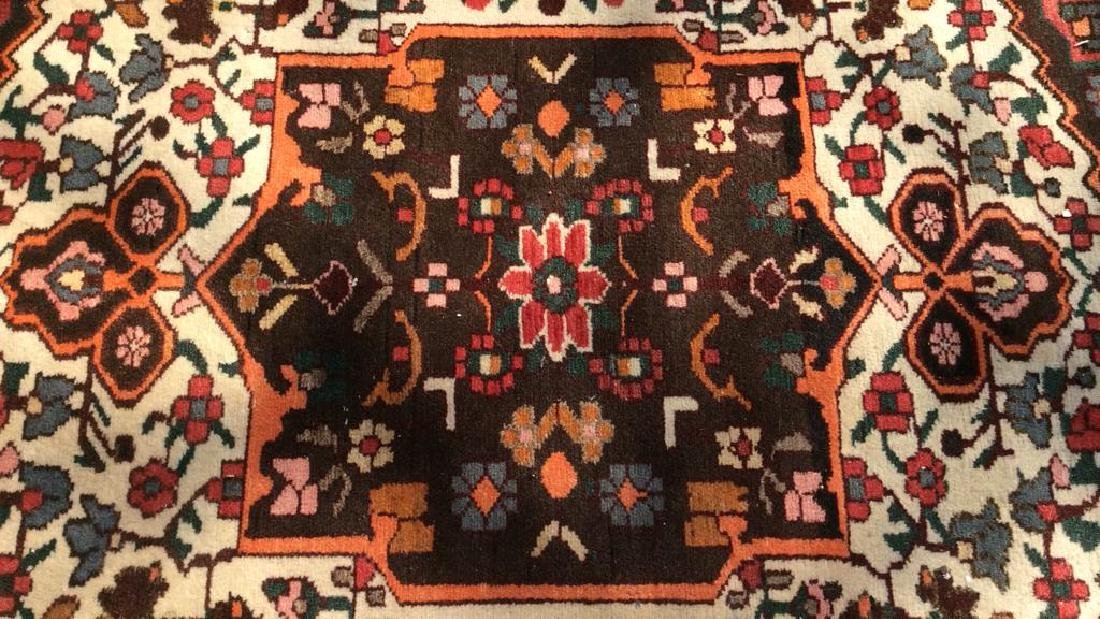 Handmade Antique Floral Detailed Wool Rug - 3