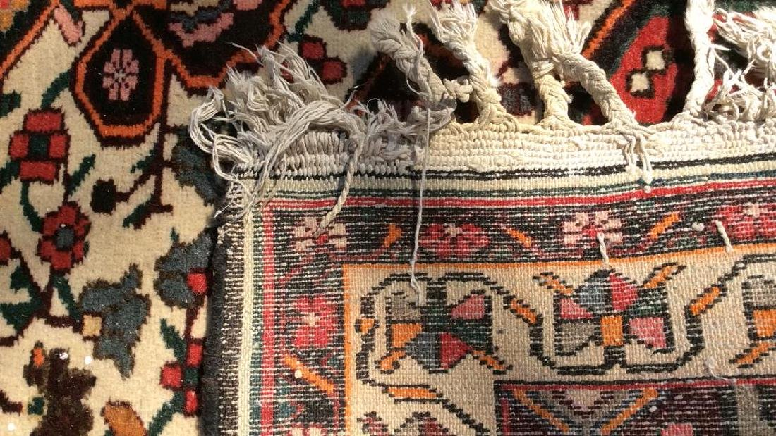Handmade Antique Floral Detailed Wool Rug - 7