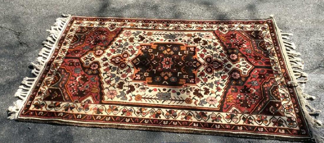 Handmade Antique Floral Detailed Wool Rug - 9