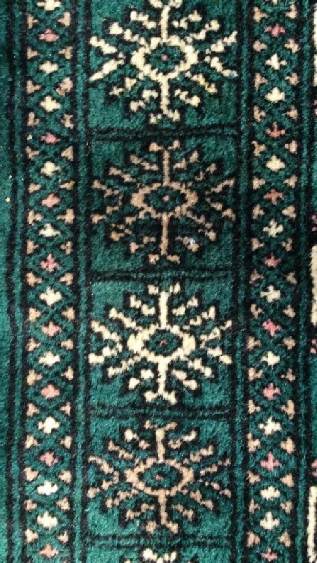 Vintage Handmade Fringed Wool Rug - 10