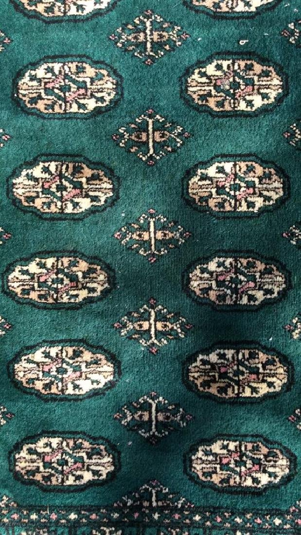Vintage Handmade Fringed Wool Rug - 2