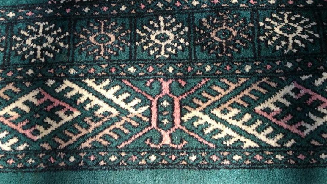 Vintage Handmade Fringed Wool Rug - 3