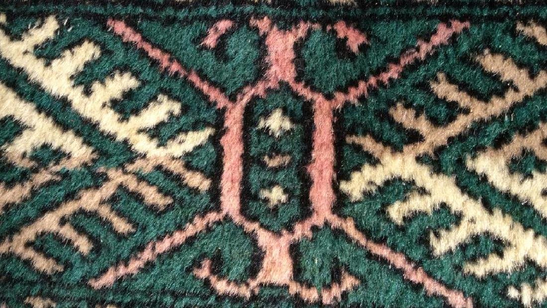 Vintage Handmade Fringed Wool Rug - 5