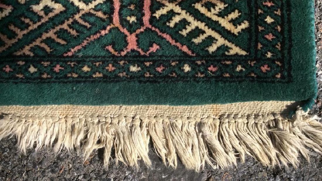 Vintage Handmade Fringed Wool Rug - 6