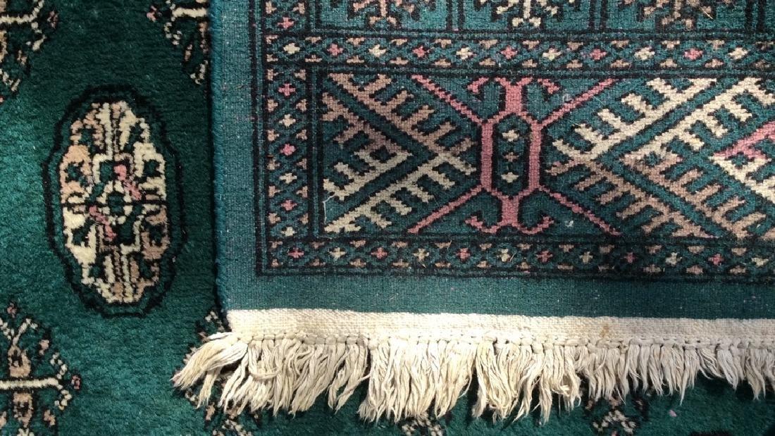 Vintage Handmade Fringed Wool Rug - 7