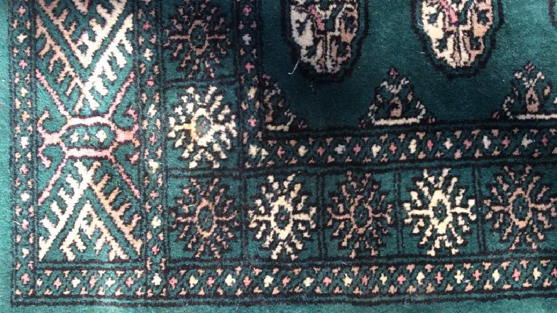 Vintage Handmade Fringed Wool Rug - 8