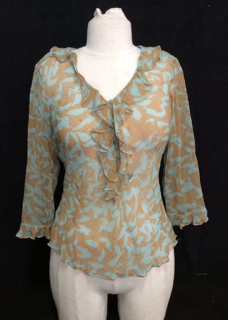 VISION APPAREL Silk Beaded Design Shirt