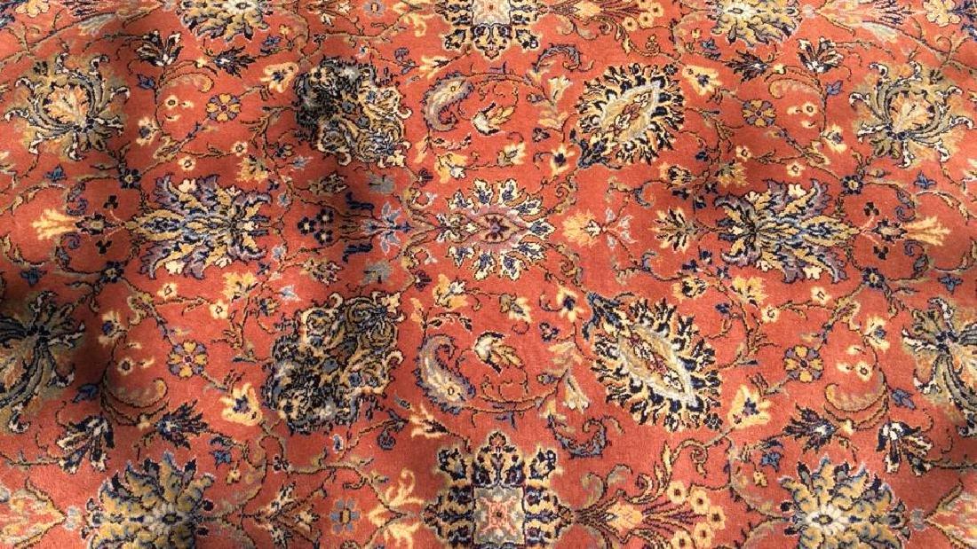 Floral Motif Detailed Fringed Wool Rug