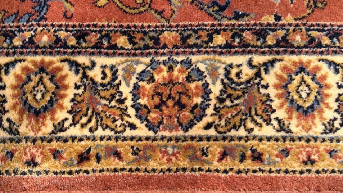 Floral Motif Detailed Fringed Wool Rug - 2